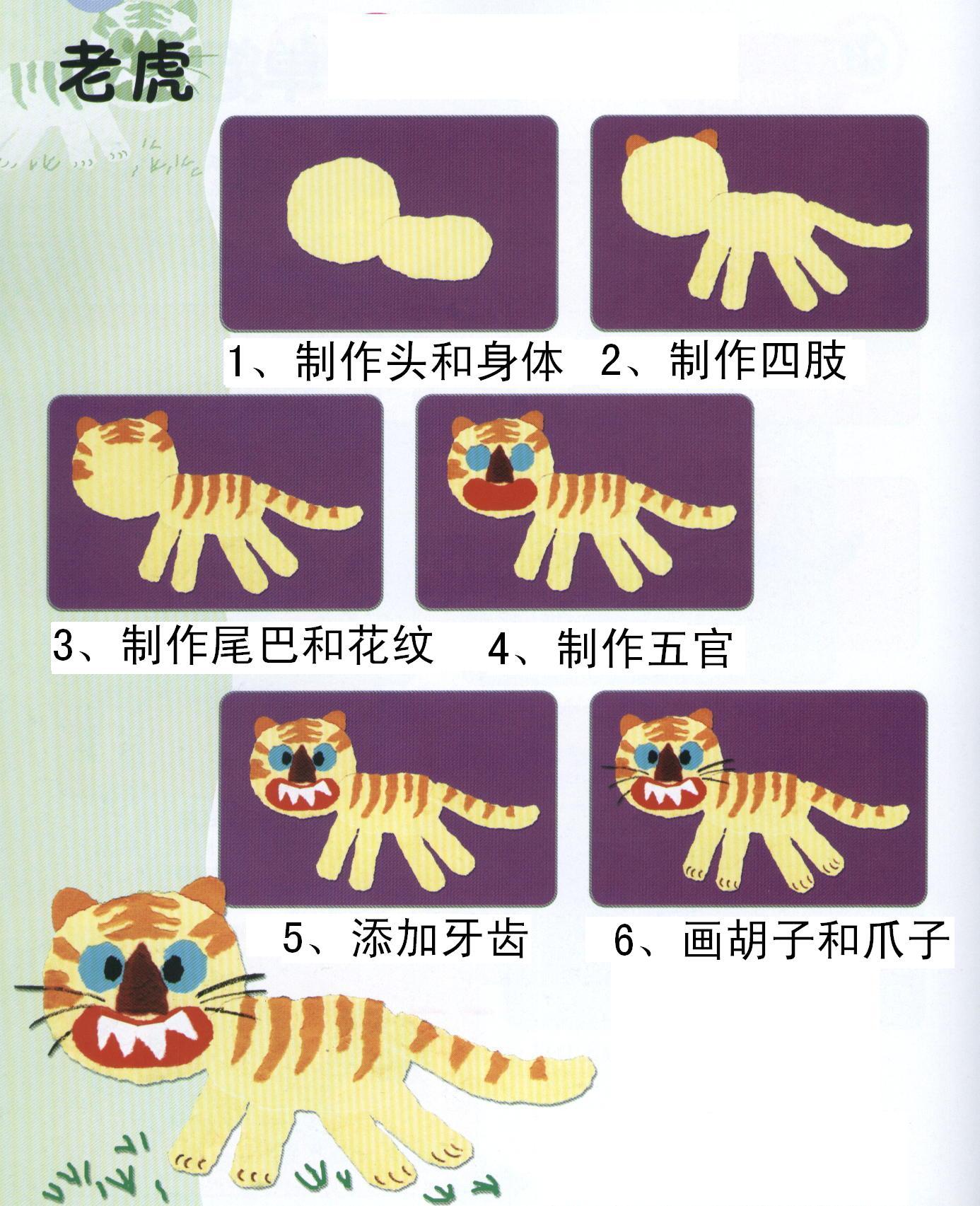 纸盒子老虎手工制作动物